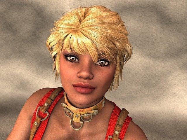 krátký sestřih blondýny