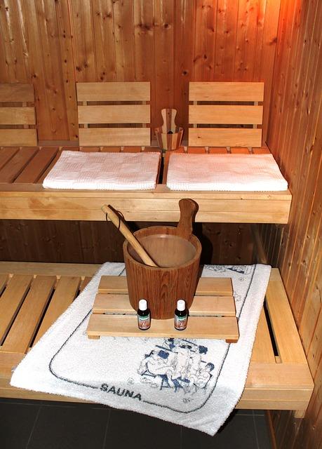 příslušenství v sauně