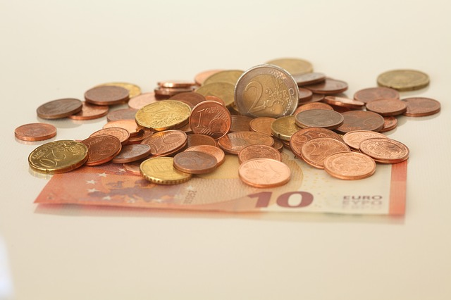 euro mince, bankovka