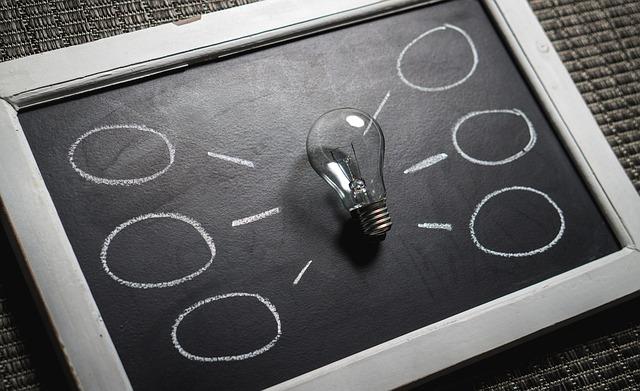 žárovka a nápady