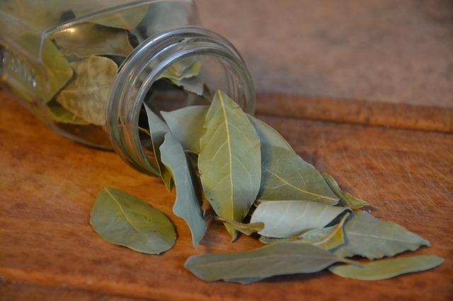 bobkové listy ve sklenici